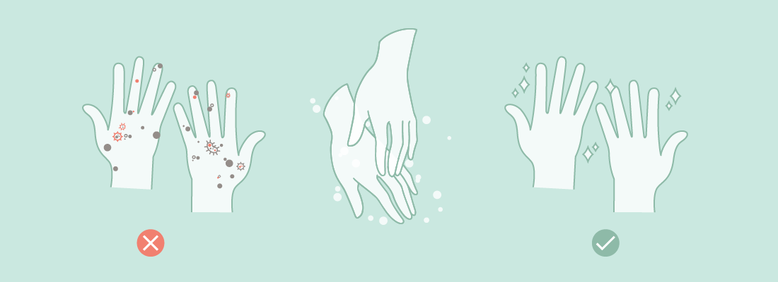 wash your hands after changing your sanitary pad